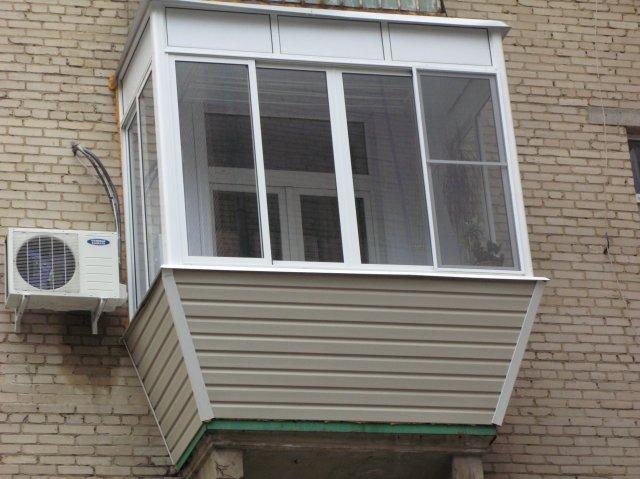 Остекление балконов в хрущевке с выносом по цене от производ.